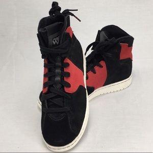 NWT Nike Jordan Westbrook Red & Black Suede Shoes